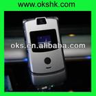 v3 cheap flip original mobile phone with quad band