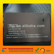 2014 professional stainless steel black metal membership cards