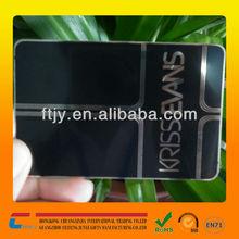 2014 professional stainless steel black metal vip card