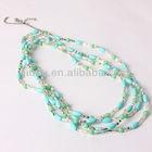 Stylish Short multilayer crystal gemstone necklace, jewelry Yiwu wholesale