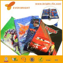 Famous carton design Laser plastic Book cover