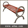Unique design backless cast iron leg wooden garden bench FW22
