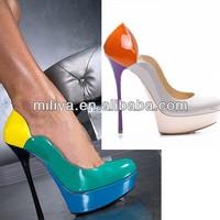 Miliya Lady sexy shoes very high heel platform heels branded designer dress pumps
