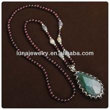 Avnturine Stone Beads Necklace,fashion necklace pendent , beads necklace