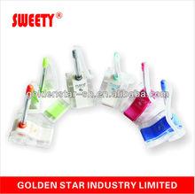 plastic advertising multi color desk table ballpoint pen