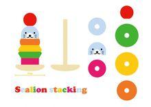 Wooden balance toy,educational mini house, math toy