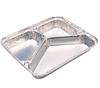 aluminium foil three portion box