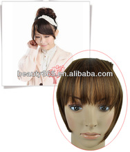 Women's Appealing One Piece Clip In On hairpiece fringe hair bangs Extensions