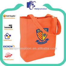 Wellpromotion custom printed cotton canvas handbags