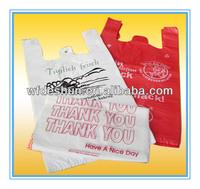 Plsatic Customized Printed Vest Bags