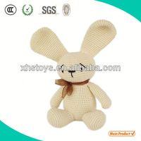 Custom plush bunny crochet toy