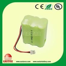 Rechargeable 7.2v nimh aa 1500mah battery pack/7.2v ni-mh rechargeable battery pack