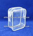 grande clara agradável moda personalizado plástico zíper saco do pvc