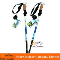 NEW DESIGN walking stick in sales 230g ultralight Trekking Pole Aluminum 7075 3 Sections Walking cane