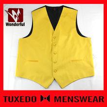 satin boy polyester woven jacquard vest