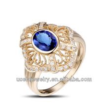 di alta qualità funky oro rosa 18 carati eternità anello di diamanti