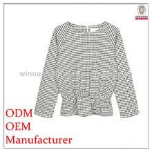 New design autumn long sleeve high waist elegant womens semi formal tops and blouses