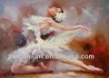 bella balletto nudo pittura ad olio ragazza