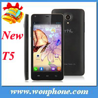 Newest THL T5 MTK6572W Quad Core 1.2GHz 512MB/4GB 4.7 inch 960*540 QHD Screen Android4.2 Bluetooth GPS 5.0MP Camera Mobile Phone