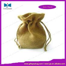 promotional custom jute cotton linen drawstring wine bottle bags