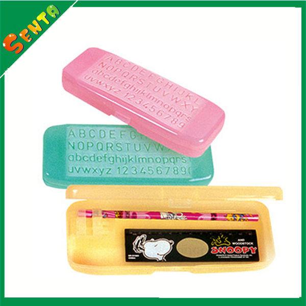 PP plastic pencil case with pen holder