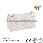 Deep cycle 12V 100AH solar gel abttery, 100AH lead acid battery