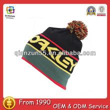 Hand knitting wool beanie hat,beanie with pom