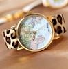 Hot Sale christmas gifts Retro World Map Watch Fashion Leather Alloy Women Casual Analog Quartz Wrist Watch items