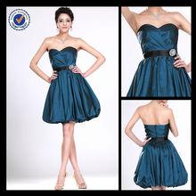 bm000107 Strapless Taffeta Navy Blue Short Sexy Briedsmaid Dress Patterns