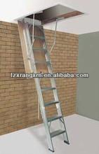 Loft ladder/Aluminum Extended Extending Folding Triple/3 Section garret attic Loft Ladder manufactured to EN 14975/SGS.