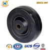 3 inch solid small rubber wheels hard black