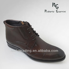 Italian Men Lace-Up Leather Boots Sheeps