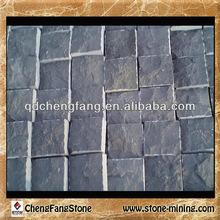 menggu black basalt/ mongolia black cube stone