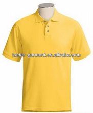 comfortable blue and black combination polo shirt with embroidery