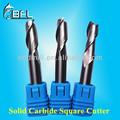 Bfl- solid carbide praça lâmina 2 bordas ferramenta de corte em estoque/metal cnc fresa 2 lâminas de corte liso ponta de corte em estoque
