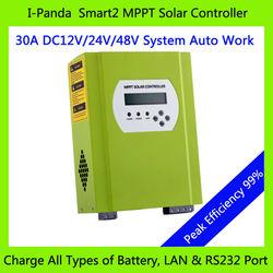 Lcd Led Rs232 Lan 12V 24V 48V solar system controller charger