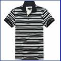venda quente camisa polo tecido para homens gola polo camiseta listrada camisa polo pique
