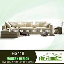 HS118# modern pink sofa set designs modern l shape sofa leather corner sofas