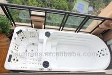 Luxury Balboa system 6 meter swim pool spa, hot sale swim spa for hotel & spa center SR858