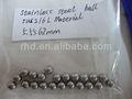 Sus316l 7/32' bolas de acero inoxidable 5.5562mm