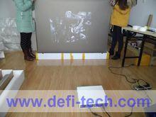 gray desktop screen protector in projection/advertising screen