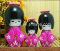 artesanal de madeira da boneca japonesa