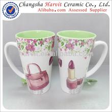 New Year Gift to Girl Fashion Handbag Pattern Ceramic Mighty Mug