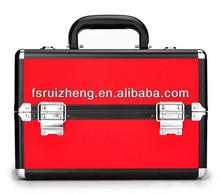 Red PVC makeup train vanity case RZ-LCO107-2