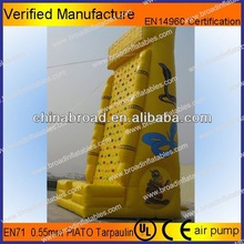 Durable climbing,inflatable wall, inflatable combo moonwalk with safety belt