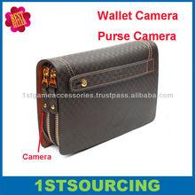 Fashionable wallet bag hidden camera , purse camera