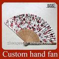 Personalizado tecido mão fãs/artesanato de bambu/lembrança