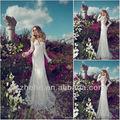 Spedizione gratuita!!! Cy1298 splendida sirena abiti da sposa di pizzo maniche lunghe nozze abiti di