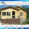 Steel structure modern wooden garden house