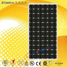 125mm high quality 200w solar panel price 200 watt with TUV UL